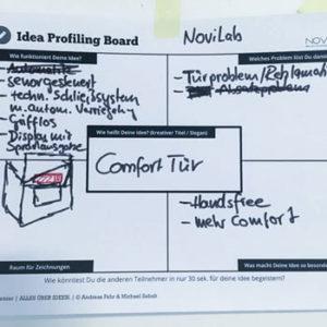 Workshopt Methode Idea Profiling Board